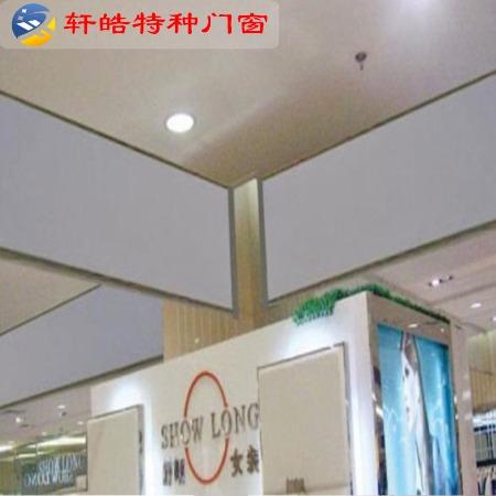 镇江轩皓特种门窗长期供应优质无机布 硅胶布挡烟垂壁电动活动镀锌板 玻璃板防火板挡烟垂壁