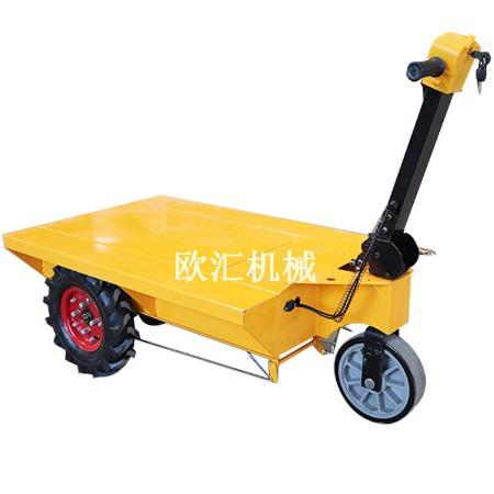 小型电动平板车 节能电动翻斗车 工地电动装卸车