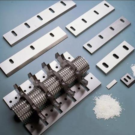 宏尔机械高品质慢速静音塑料粉碎机刀具 菠萝式滚动刀精密组合固定刀加工