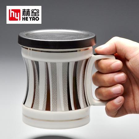 陶瓷杯带盖定制礼品创意广告骨瓷杯子陶瓷批发泡茶杯高档商务