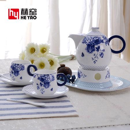 英式下午茶骨瓷套装陶瓷茶具咖啡具两用商务礼品定制logo