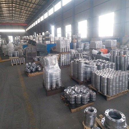 盐山博岩批发 温州不锈钢DN500高压热卷法兰厂家