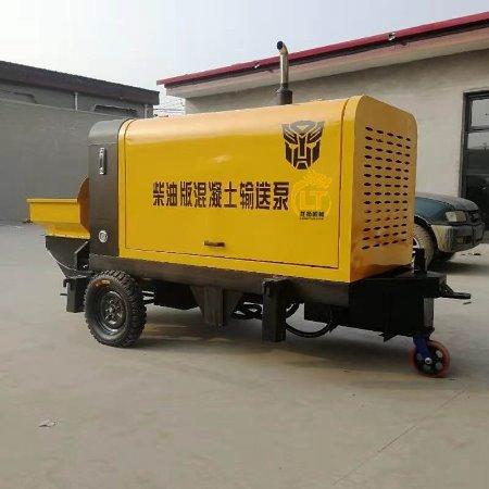 龙拓机械护坡湿喷机 民用模块建房柴油大型混凝土输送泵厂家 卧式二次构造柱泵