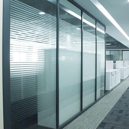 福州办公室玻璃隔断_钢化双层玻璃高隔断_简约大气隔音_福州厂家直销批发