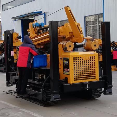 山东亿创机械设备 厂家直销FY300A履带式高支腿冲击钻井机气动打井机 快速打井设备