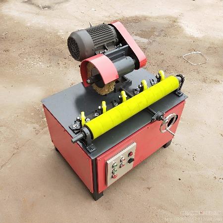 环保除尘外圆抛光机 多工位外圆打磨机 圆管除锈机无心抛光机