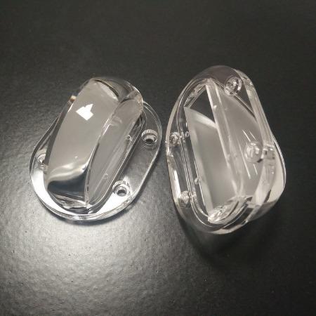 55窗台灯透镜角度3*180度一束光窄光LED透镜线条灯透镜洗墙灯透镜