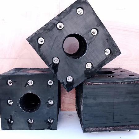 厂家直销 破碎机橡胶减震垫 橡胶式减震垫 隔震垫