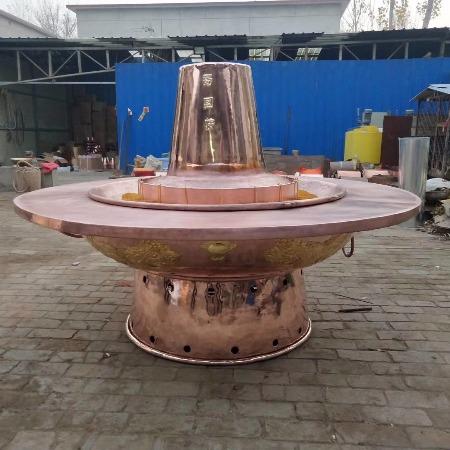 巨型铜火锅 纯紫铜 纯手工加厚 木炭铜火锅 传统老北京铜火锅 紫铜火锅
