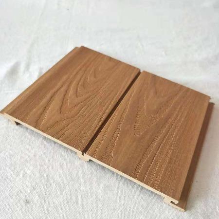 生态木浮雕板 厂家直销护墙板双75墙板墙裙天花吊顶PVC 出口爆款