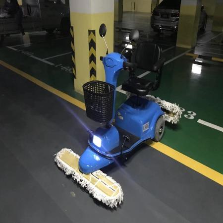 厂家直销车间商场超市地下车库用电动尘推车_电动拖地车,质量保证
