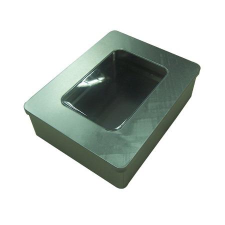 铁盒厂家定做 马口铁开窗铁盒 方形礼品包装盒