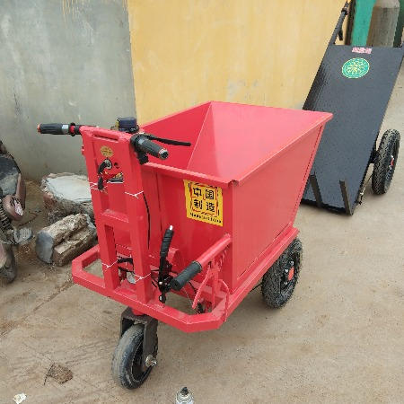 厂家直销小型电动自卸翻斗拉砖车 手推拉沙灰斗车价格 养殖农用三轮车