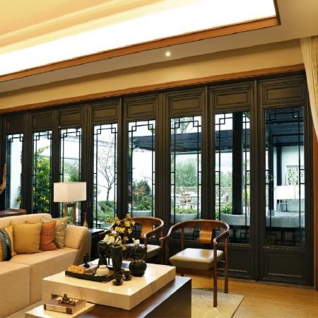 來樣定制仿古門窗 A級仿古木門窗 仿古鋁合金門窗 杭州中譽