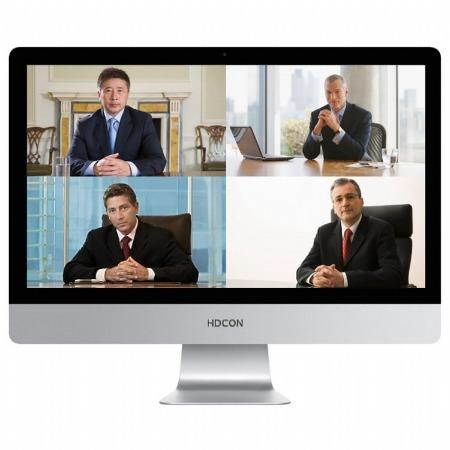 HDCON视频会议系统 高清视频会议终端HTE60 支持新一代H-264 HP H-265编码技术