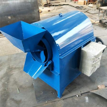 不锈钢滚筒炒货机 大型燃气干果炒锅 电加热炒籽机厂家
