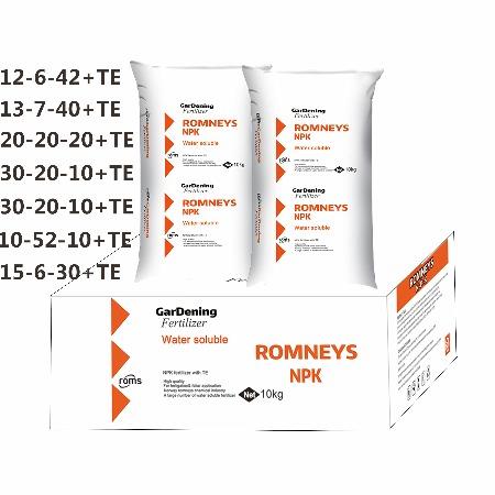罗姆斯13-7-40大量元素水溶肥料 进口原料 生根壮苗 膨果增产