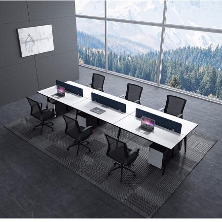福州办公桌2 4 6人位钢架办公桌员工桌职员桌电脑桌
