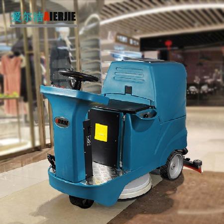 驾驶式洗地机工业电动洗地机驾驶式自动拖地机物业多功能洗地吸干洗地车工厂