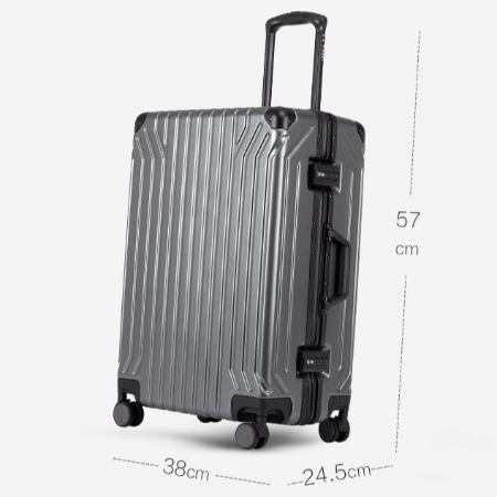 银座行李箱女20寸铝框万向轮箱子男24学生密码韩版登机旅行拉杆箱