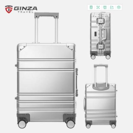 全铝镁合金拉杆箱加厚铝框全铝行李箱包男女金属密码旅行箱子