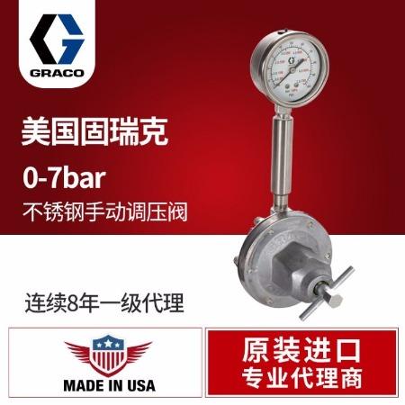 美国进口GRACO/固瑞克液体稳压阀214706不锈钢油漆涂料手动调节阀