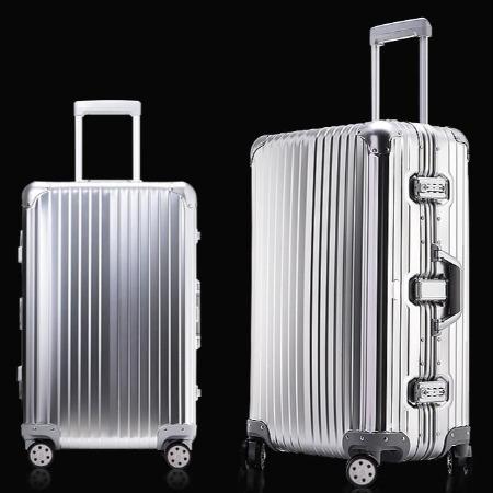 全铝镁合金拉杆箱男20寸登机箱包万向轮密码旅行箱子行李箱