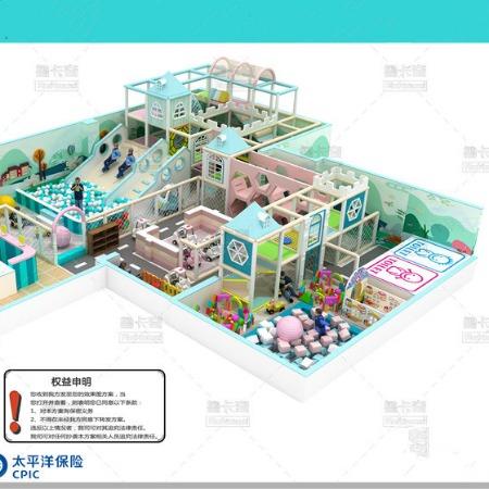 新款商场淘气堡儿童乐园室内大小型游乐设施儿童淘气堡滑滑梯厂家
