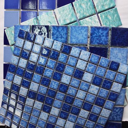 浙江杭州陶瓷马赛克厂家直销西安武汉陶瓷马赛克混贴泳池订做设计生产