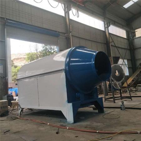 自动高效花生大豆烘干机 商用封闭式滚筒炒锅 煤炭加热炒货机