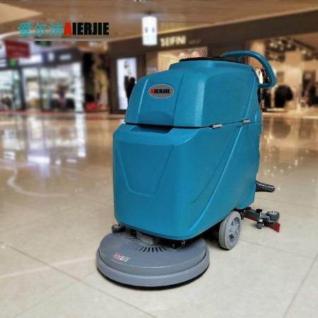 商用洗地机 手推式洗地机物业小区车库小型洗地机工厂工业洗地机