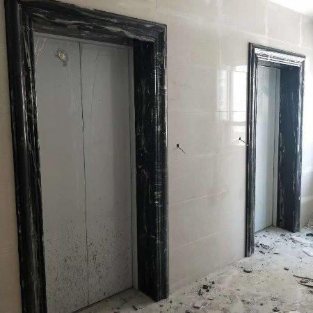 工厂成品加工大理石电梯门套圆柱线条加工
