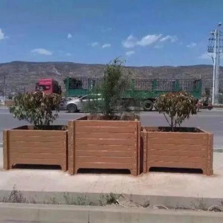 仿木花箱 水泥仿木花箱 水泥仿木花桶 仿木水泥花桶 仿木花盆
