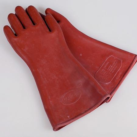 双安牌 12kv橡胶绝缘手套 电工高压防护劳保手套 带检测报告