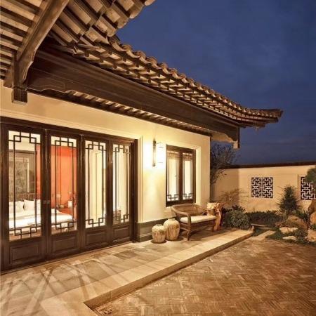 巴森 复古新中式门窗 景区民宿仿古门窗定制 来图定制