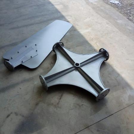 直径3.8m冷却塔铝合金风机 42#冷却塔风叶 铝合金叶片扇叶