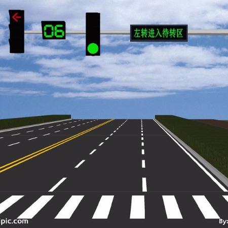 交通信号灯 贵州双横臂单立柱信号灯 贵州太阳能信号灯红绿灯警示灯 交通标志灯