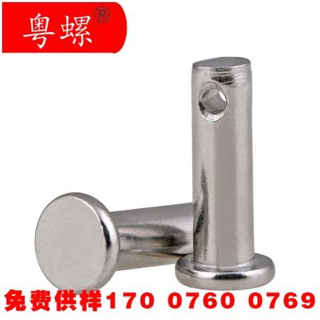 304不锈钢销轴 GB882平头带孔圆柱销 定位销 销钉M3M4M5M6M8M10