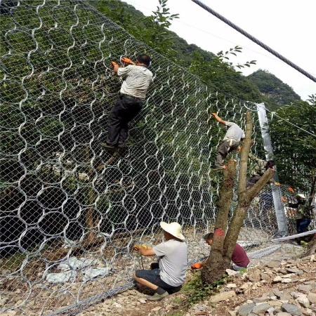 【禄志昌】边坡石笼网厂家 边坡防护网 柔性防护网 被动防护网
