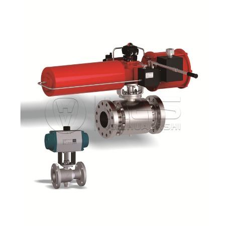 气动高压球阀Q641不锈钢 双作用气动高压球阀制造生产