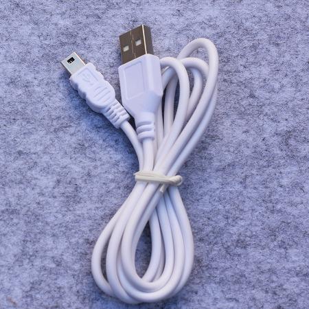 迷你充电线 1米迷你5P充电数据线 纯铜1米长台灯迷你充电线