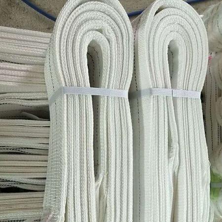 厂家直销吊带 白色扁平吊装带 起重带行车 双扣吊绳吊 索 具