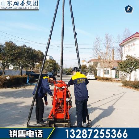 小型钻塔式液压岩心钻机价格 工程地质勘测取样钻机 岩石取芯机