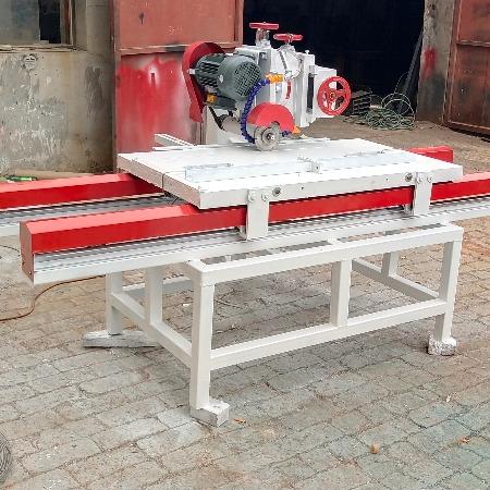 腾建120型支持非标定制大型石材切割机 台式多功能全自动电动瓷砖切割磨圆边机