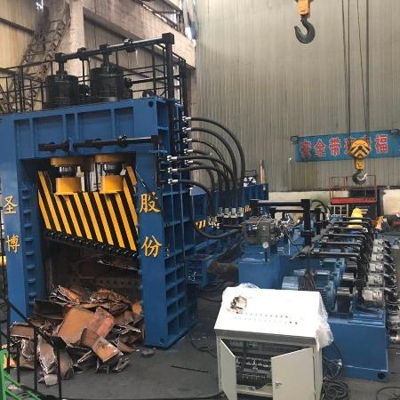 Q91Y重型龙门斜切口斩铁切断机20吨每小时