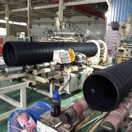 供应HDPE塑钢缠绕管厂家 中空壁缠绕管 PE塑钢管价格