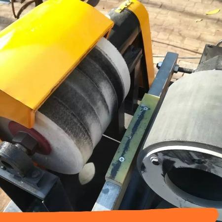 昌和机械 小型单组自动钢管除锈抛光机多功能不锈钢铝管圆棒圆管外圆抛光机