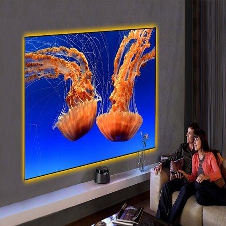ScreenPro美国锐普超短焦窄边抗光幕120寸4k激光抗光幕窄边框幕布