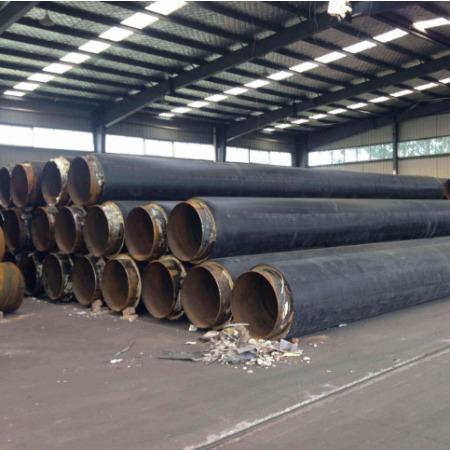 山东预制聚氨酯直埋保温管 聚氨酯发泡保温管 地埋式硬质泡沫管道现场施工