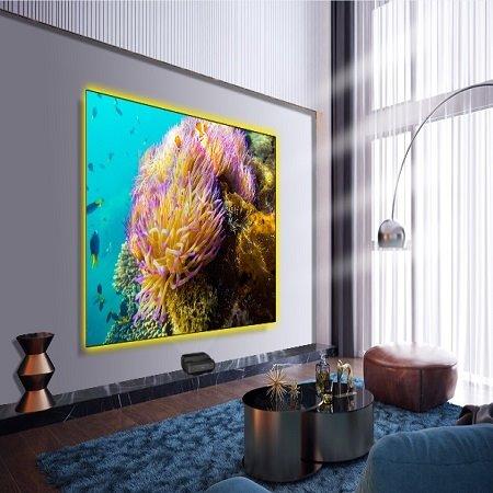 ScreenPro锐普超窄边激光电视4K抗光幕100寸4:3高清超短焦抗光幕激光投影幕